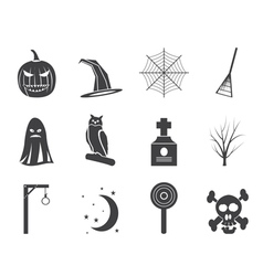 Halloween icon pack vector