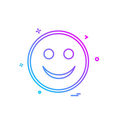 happy emoji icon design vector image