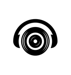 Headphone dj sound icon logo vector