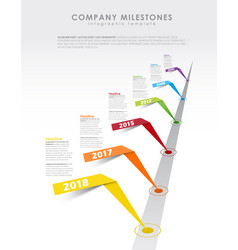 infographic startup milestones timeline template vector image