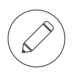Isolated pencil symbol vector image