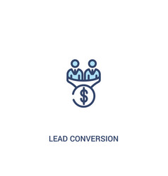 Lead conversion concept 2 colored icon simple vector