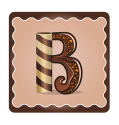 Letter b candies vector