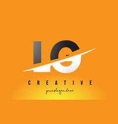 lg l g letter modern logo design with yellow vector image