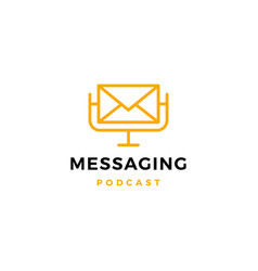 Message podcast logo icon for email marketing vector