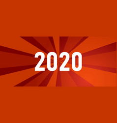 new year 2020 red background shining light behind vector image