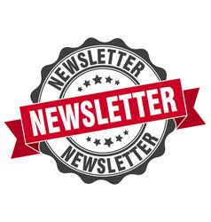Newsletter stamp sign seal vector