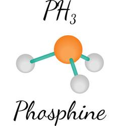 PH3 phosphine molecule vector