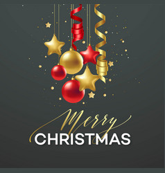 poster merry christmas holiday premium vector image
