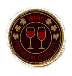 premium wine logo design vector image