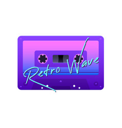 Realistic retro wave icon vector