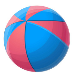 red blue beach ball icon cartoon style vector image