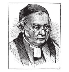Rev edward bouverie pusey vintage vector