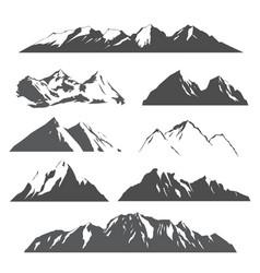 Set mountains on white vector