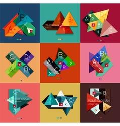 Set of flat design geometric infographic templates vector
