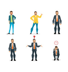 set of men vector image