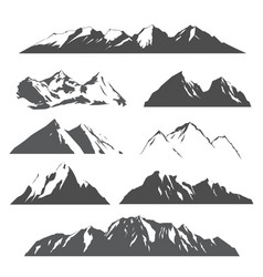 Set of mountains on white vector