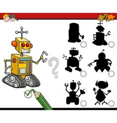 Shadows game with robot vector