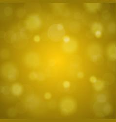 Shiny bright golden lights blurred background vector