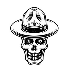 skull boy scout in hat vector image