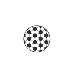Soccer ball hexagonal net circle logo element vector