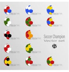 Soccer world champion set vector