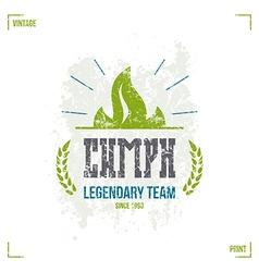 Sport team emblem vector image