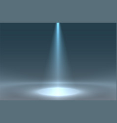 Spotlight focus from above on floor background vector