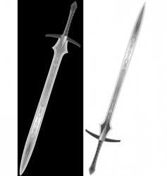 steel sword of the knight vector image