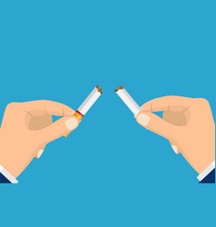 stop smoking with human hands vector image