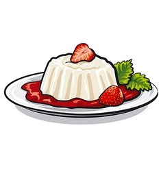 Strawberry dessert vector