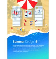 Summer vacation flyer design vector