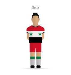 Syria football player Soccer uniform vector
