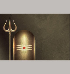 Traditional hindu lord shiva shivling background vector