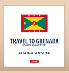 Travel to grenada discover and explore new vector
