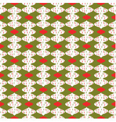 trendy christmas card ornaments festive pattern vector image
