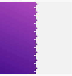 two grey and purple piece puzzle jigsaw vector image