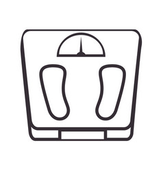weight balance isolated icon vector image