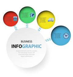 abstract circle infographics web design marketing vector image