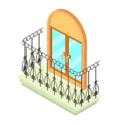 beautiful balcony icon isometric 3d style vector image vector image