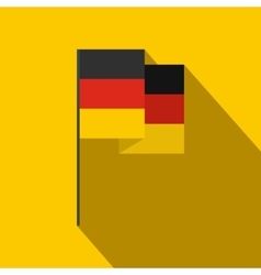 Germany flag icon flat style vector image vector image