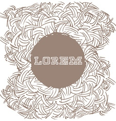 Hand drawn pattern with place for text vector image