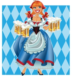 Oktoberfest girl on background vector image