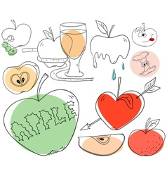 Apple collection vector image vector image