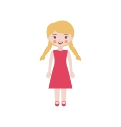 blond girl with braided hair and dress vector image
