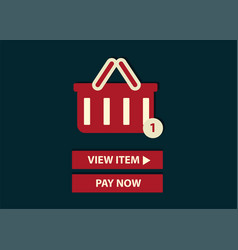 concept of online shopping add to basket web vector image