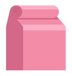craft paper bag icon flat style vector image