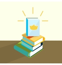 education book vector image