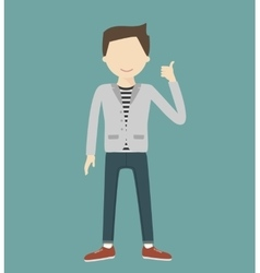 Man Showing Thumbs Up vector image