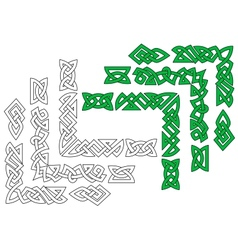 Borders and patterns in celtic style vector image vector image